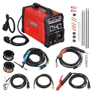 Mts 205 Amp Mig Flux Cored Wire Tig Torch Stick Arc Welder 3 in 1 Combo Welding