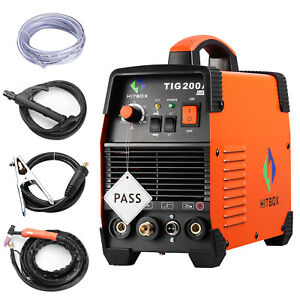 Tig Welder 200a Arc Tig Inverter Welding Machine Combo 220v Mma Stick Dc Igbt