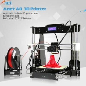 Anet A8 3d Printer High Precision Reprap I3 Diy Kit Lcd2004 8g Sd Card Best