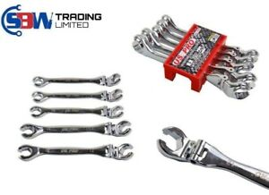 Us Pro Tools 5pc Flexi Head Brake Flare Nut Spanners Wrench Set 8 12mm New 1921
