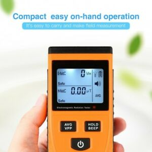 Emf Meter Electromagnetic Field Radiation Detector Digital Dosimeter Counter