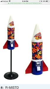 Gumball Retro Mighty Mite Rocket Vending Machine Vends 1 Gum Balls