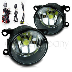 For 2013 2014 Ford Fusion Fog Lights W wiring Kit Cob Bulbs Clear