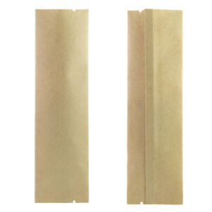 New Flat Brown Kraft Open Top Individual Packaging Bags Different Qty