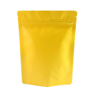 Double Sided Matte Gold Zip Lock Storage Bags Different Qty 13x18cm 5 1x7 1in