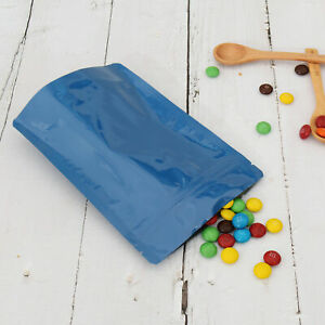 Double Sided Glossy Blue Zip Lock Storage Bags Different Qty 13x18cm 5 1x7 1in