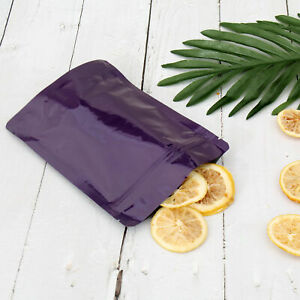 Double Sided Glossy Purple Zip Lock Storage Bags Various Qty 13x18cm 5 1x7 1in