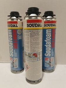 Soudal Soudafoam Insulation Gun Foam 24oz Can Lot Of 4