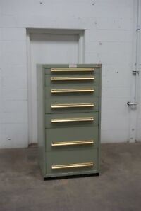 Used Equipto 7 Drawer Cabinet Industrial Tool Storage Bin 1512 Vidmar