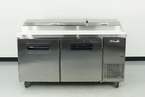 Used Blue Air Bapp67 67 2 Door Refrigerated Pizza Prep Table