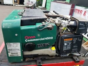 Onan Commercial 4500 Generator Rv Motorhome Only 25hr W Inverter Muffler More