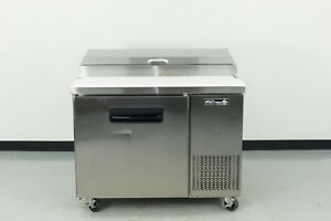 Used Blue Air Bapp44 44 1 Door Refrigerated Pizza Prep Table