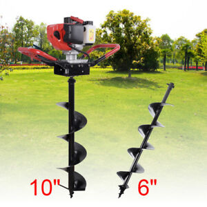 52cc Gas Powered Post Hole Digger Earth Auger Ground Fence Drill 6
