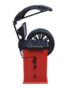 220v Motorcycle Car And Light Truck Wheel Balancing Machine With Hood