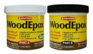 Abatron Woodepox Epoxy Wood Replacement Compound 12 Oz Kit Part A B