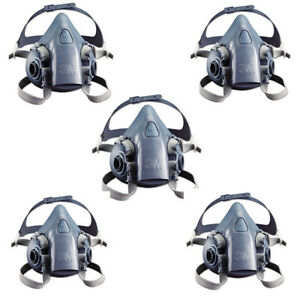 5pc 3m 7502 Reusable Respirator Painting Spraying Half Face gas Mask