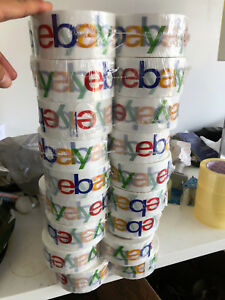 2 X 75 Yards Classic Official Ebay Branded Packaging Tape 36 Rolls Roll 2x75
