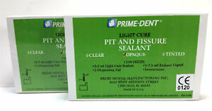 Pack Of 2 Prime Dent Pit Fissure Sealant Dental Composite