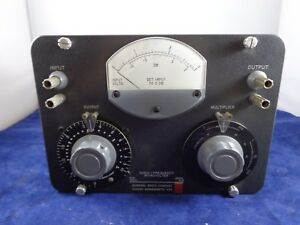 Vintage General Radio Company Audio frequency Microvolter 546 c