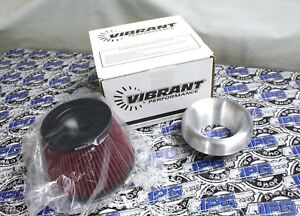 Vibrant Performance 2 5 Aluminum Bellmouth Velocity Stack Air Filter