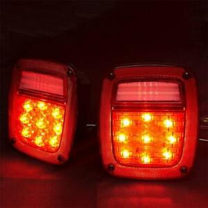 Led Tail Lights For 76 06 Jeep Wrangler Cj Yj Tj Tail Brake Turn Signal Lamp