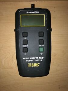 Aemc Ca7026 Fault Mapper Pro telephone Cable Tester Graphical Tdr