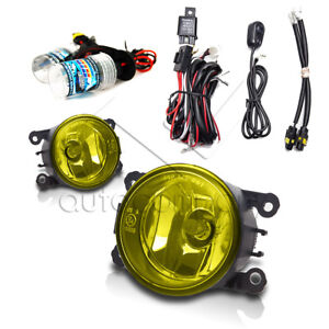 For 2005 2015 Ford Mustang Fog Lights W Wiring Kit Hid Kit Yellow