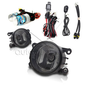 For 2005 2015 Ford Mustang Fog Lights W Wiring Kit Hid Kit Smoke