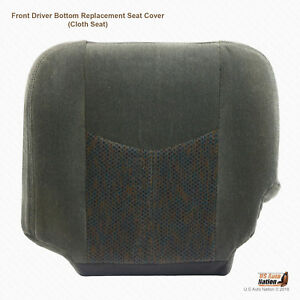 2003 2007 Chevy Silverado 1500 2500 3500 Driver Bottom Dk Gray Cloth Seat Cover