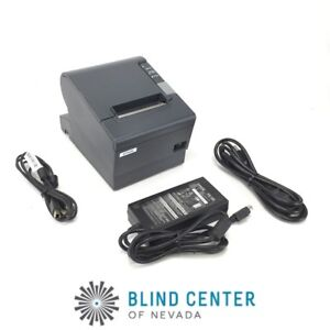 Epson Tm t88v M244a Pos Thermal Receipt Printer Parallel With Power Supply 3 4