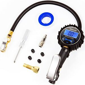 Astroai Digital Tire Inflator Pressure Gauge 250 Psi Air Chuck Compressor