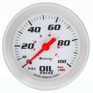 Equus Engine Oil Pressure Gauge 8244 8000 Series 0 100 Psi 2 Mechanical