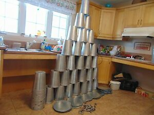 4 Maple Syrup Aluminium Sap Buckets Lids Covers Taps Spiles 17