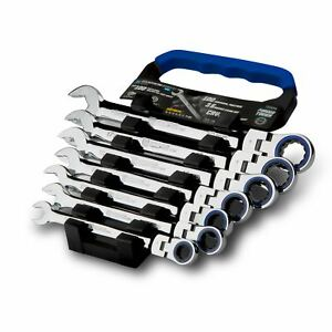 Capri Tools Flex head Ratcheting Wrench Set True 100 tooth 10 To 19 Mm Metric