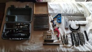 Machine Shop Items tooling dremel lathe Tools end Mills drills Etc Lot