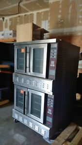 Commercial Gas Convection Oven Digital Controls Lang Brand Working Wheels