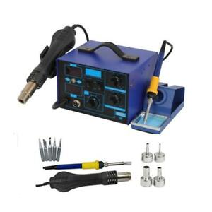 2in1 862d 110v Smd Rework Electric Soldering Iron Station W Hot Air Gun