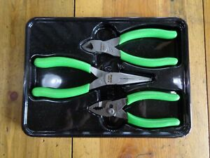 Snap on 5 Green Soft Handle Pliers 3 Pcs Set Pl305acfg 85acfg 95acfg 44acfg