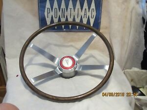 1964 Pontiac Gto And Full Size Cars Wood Steering Wheel Vintage Original