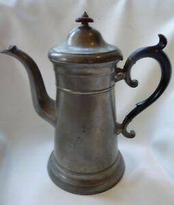 Antique American Pewter Lighthouse Coffeepot By Freeman Porter Maine