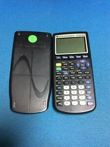 Texas Instruments Ti 83 Plus Graphing Calculator With Slide Cover Tested Working