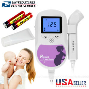 Baby Sound C Fetal Doppler 3mhz Probe prenatal Baby Heart Monitor Gel Batteries