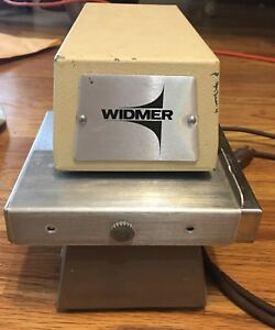 Widmer T3 T 3 Electronic Time Date Recorder Stamp Clock Wheel W Key