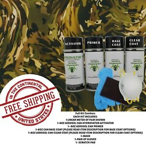Hydrographic Water Transfer Hydro Dip Kit Activator 1m Army Camo Slick Film