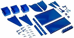 Wall Control Kt 400 wrk Bu Slotted Tool Board Workstation Accessory Kit For