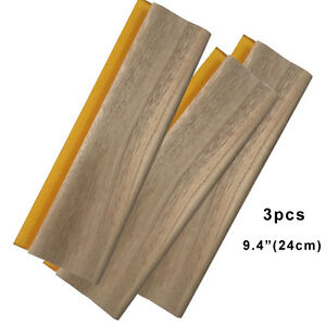 3 Pcs 9 4 Screen Printing Squeegee Oiliness Ink Scraper 75 Durometer 24cm Wood