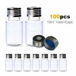100pcs 10ml Screw Top Chromatography Vial For Agilent waters 22 5 46mm Sample