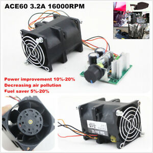 Diy Electric Turbine Supercharger Boost Intake Fan Car Turbo San Ace40 1a Dc12v