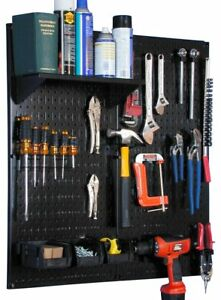 Wall Control 30 wgl 200 Bb Metal Pegboard Utility Tool Storage Kit With Black
