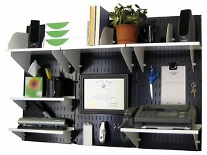 Wall Control Office Organizer Unit Wall Mounted Desk Storage And White